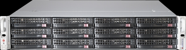 "Supermicro SC216BE1C-R920LPB, 24 x 2.5"" SATA/SAS III  hot-swappable, 2U, 2 x 2.5"" SATA/SAS hot-swappable option, rapid install rails inclusive, 920W Redundant High-efficiency Platinum Level Power Supplies"