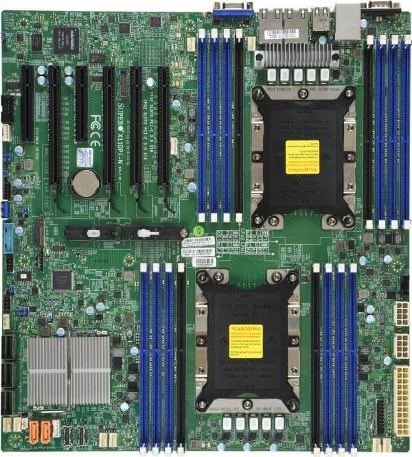Supermicro X11DPI-N, 6xPCI-e, 16xDDR4, 2xIntel 1Gbit LAN, 2xNVME