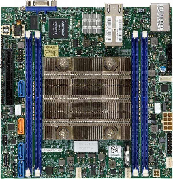 Supermicro MBD-X11SDV-12C-TLN2F, Intel® Xeon® Processor D-2166NT 12C/24T 2Ghz - 3Ghz turbo - 85W, 4 x DDR-4, 2x10Gbe