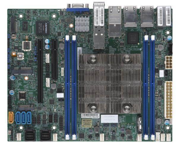 Supermicro MBD-X11SDV-8C-TP8F, Intel® Xeon® Processor D-2141I 8C/16T 2.2Ghz - 3Ghz turbo - 65W, 4 x DDR-4, 4x1Gbe, 2x10Gbe, 2x10Gb SFP+