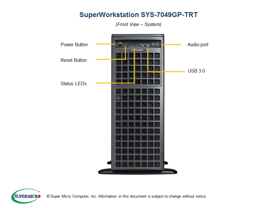 SUPERMICRO SYS-7049GP-TRT BLACK - SYS-7049GP-002
