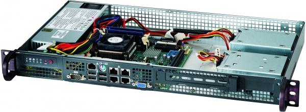 "Supermicro SC505-203B, 2 x SATA non hot-swap, 1U , 200W Gold level power supply, Optimized for Mini-ITX (6.75""x 6.75"") Motherboard"