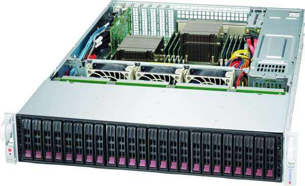 "Supermicro CSE-216BE1C4-R1K23LPB  20 x 2.5"" SATA/SAS III + 4 x NVME 2.5'' hot-swappable, 2U, 2 x 2.5"" SATA/SAS hot-swappable option, rapid install rails inclusive, 1200W/1000W Titanium Power Supply W/PMbus"