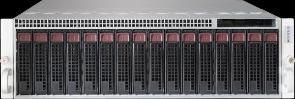 Supermicro MicroCloud SYS-5039MS-H8TRF: 8 servers in 3U, max. 8 times: 2xSATA 3.5inch, 2 x SATA 2.5inch, 4 x DDR-4, redundant PSU