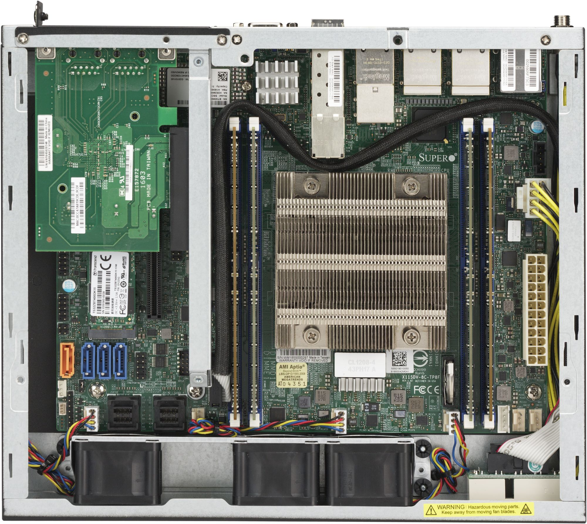 Supermicro Embedded SYS-E300-9D-4CN8TP - miniserver or 1U rackmountable -  IoT